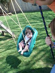 Bella swinging