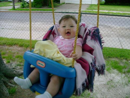 I love my swing at Grammas house!