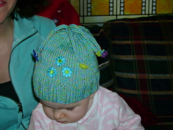 Ava wearing her hat